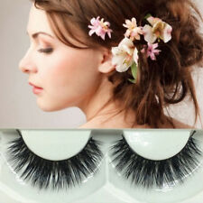 1pair 3d Natural False Eyelashes Real Mink Hair Extension Fake Eye Lashes Makeup