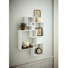 4 Cube Decorative Floating Wall Mounted Shelf Display Storage Home Shelves Decor