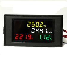AC 80-300V LCD Digital 100A Volt Watt Power Kwh Meter Ammeter Voltmeter 110 220V