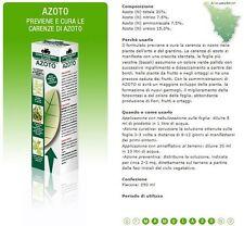 CIFO AZOTO CONCIME LIQUIDO 250 ML. PIANTE FIORI GIARDINO PER CARENZE DI AZOTO