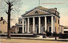 New York postcard Jamaica Long Island Queens Borough Library