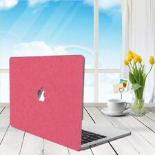 Macbook pro 13.3 case PU Leather Smooth Case shell cover - Metallic Pink