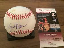 Brandon Morrow Chicago Cubs signed GAME USED OML baseball JSA