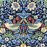 William Morris Strawberry Thief fabric, Art Nouveau craft cotton, Morris & Co