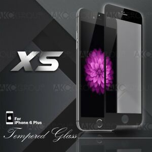 """5x Black Full Cover Tempered Glass Screen Protector For IPhone 6S 6 Plus 5.5"""""""