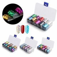 Holographic AB Color Diamond Nail Art Transfer Stickers Starry Manicure Decor