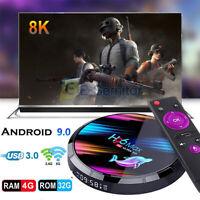 H96 Max Android 9.0 Smart TV Box 32/64GB Quad Core HD 4K WIFI 5G Media Player UK