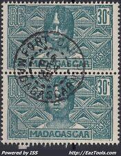 MADAGASCAR PAIRE N° 169 AVEC CACHET DE FORT DAUPHIN DU 04/02/1938