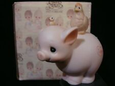 Precious Moments-Tubby Pig-Regular Nativity Addition-Cute