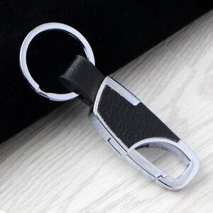 Schlüsselanhänger Karabinerhaken Schlüsselring Leder Massiv Clip ! 2 VARIANTEN !