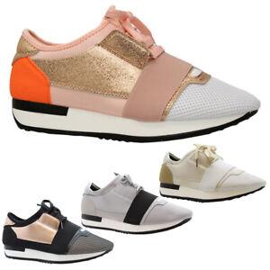 Running Sneaker Mesh Trainers Women Slip On Gym Jogging Ladies Wedge Pumps Shoes