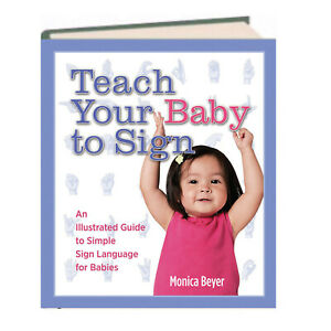 Teach Your Baby to Sign by Monica Beyer sign lanaguage for kid(Hardcover Spiral)