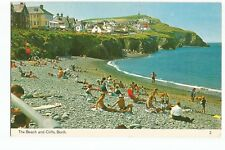 Postcard Borth The Beach and Cliffs Ceredigion Wales Postmark 1978  (A35)