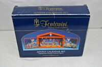 Fontanini Advent Calendar Set Wood Nativities Collectible Vintage 2003 NIB