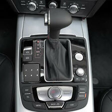 Car Leather Chrome Gear Shift Knob For Audi A6 A7 A3A4A5 A6 C6 Q7 Q5 2009-2014