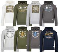 Firetrap New Men's Casual Zip & Overhead Hooded Sweatshirt Tops Hoodie