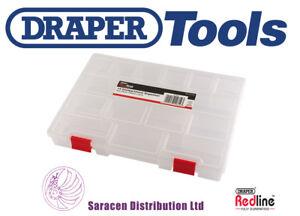 DRAPER REDLINE PLASTIC STORAGE ORGANISER 276 X 203 X 42MM - 14612