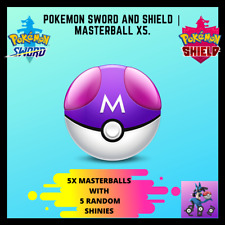 Pokemon Sword and Shield | Bulk of 5 Masterballs! (with shiny Pokemon!)