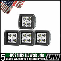 4x 16W 3 inch Led Work Light Bar Spot 3x3 Pods Offroad 4X4 for Jeep