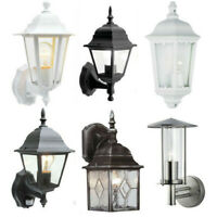 Garden Wall Lanterns Traditional Outdoor Motion Sensor Lights c/w LED or Halogen