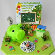 Geldgeschenk Einschulung Schulanfang - Sparschwein versch.Varianten Geschenkbox