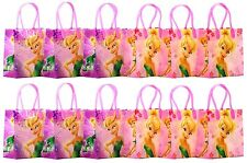 "Disney Tinker Bell Party Favor Goodie Gift Bag - 6"" Small Size (12 Packs)"
