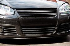 VW Jetta GTI MK5 5 V Black Front Bumper Badgeless Euro Sport Slat Grill 06-09