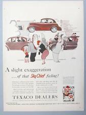 Original 1940 Texaco Sky Chief Ad A SLIGHT EXAGERATION OF SKY CHIEF FEELING