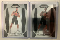 2017-18 Panini Prizm #298 Derrick White RC 2 Card Lot MINT Condition