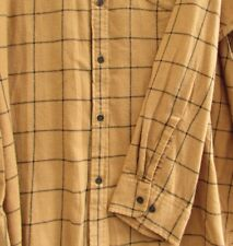 4XL Flannel Shirt Foundry Supply Co Toffee Black Window Big & Tall