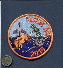 148th FS KICKIN 2016 USAF F-16 FALCON Fighter Squadron DET patch