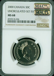 2003-P CANADA CROWNED BUST 50 CENTS NGC MS-68 PQ MAC SOLO FINEST SPOTLESS .