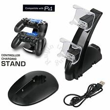 Dual Cargador USB Carga LED Station Base Rápida Soporte Dock Para Sony PS4 Mando