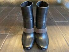 BRUNELLO CUCINELLI Black Leather Monili Boots Sz 35 EU 5 US w/ Box Made in Italy