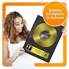 Persönliche Goldene Schallplatte Urkunde Rahmen - personalisiertes Bild Geschenk