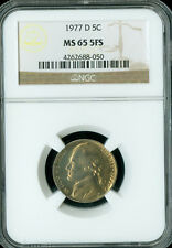 1977-D JEFFERSON NICKEL NGC MS65 FS  GC.