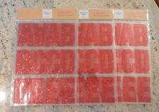"Lot of 3 New 49 Count Red Glitter Adhesive Letters Approx 3"" 147 Total"