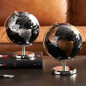 Retro World Globe Modern Learning Map Kids Geography Study Desk Home Accessories