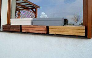 Pflanzkasten Holz Garten Blumenkasten 60cm oder 90cm  x 17cm x 17cm Folie D6