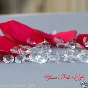 1000 Clear Wedding Table Scatter Confetti Crystal Acrylic Diamond Decoration