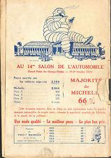 63 CLERMONT- FERRAND MICHELIN BIBENDUM  SALON DE L' AUTOMOBILE PUBLICITE 1913
