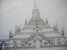 Architectural Drawings of Temples in Pagan 1989 Architektur Zeichnung Tempel