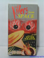 1954 KILLERS FROM SPACE (1985 VHS) Peter Graves, SCI FI, Fantasy, BLACK & WHITE