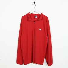 Vintage THE NORTH FACE Small Logo 1/4 Zip Polar-Tec Polyester Sweatshirt XL