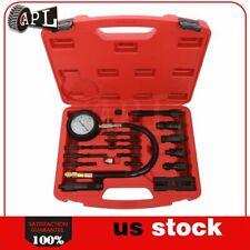 17PC Diesel Engine Cylinder Pressure Tester Car Compression Gauge Test Tool Kits