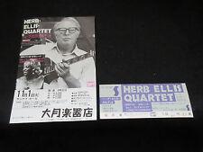 Herb Ellis Quartet 1977 Japan Tour Flyer with Ticket Lorez Alexandria Jazz Gitar