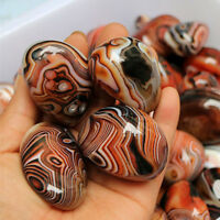 1pc/5pcs Natural Banded Agate Madagascar Crystal Stone Tumbled Pattern Specimen
