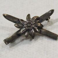 Vintage Sterling Silver Brooch Mini Flower