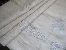 Excelente Hoja De Lino Puro Francés Vintage Xl, Tela de Ropa de cama de calidad o cortina