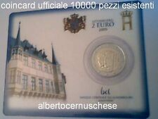 Coin card 2 euro 2009 Charlotte Lussemburgo Luxembourg Lëtzebuerg Luxembourg